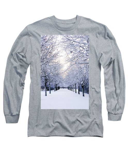 Snowy Pathway Long Sleeve T-Shirt