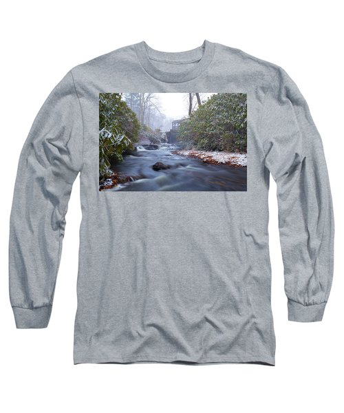 Long Sleeve T-Shirt featuring the photograph Snowy River And Waterfall by Brian Hale