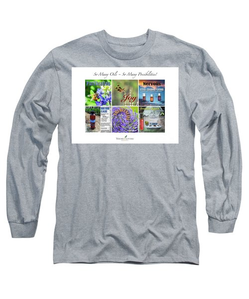 Long Sleeve T-Shirt featuring the digital art So Many Oils by Cheryl McClure