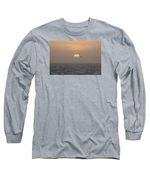 Soaring Through Sunrise Long Sleeve T-Shirt by Robert Banach