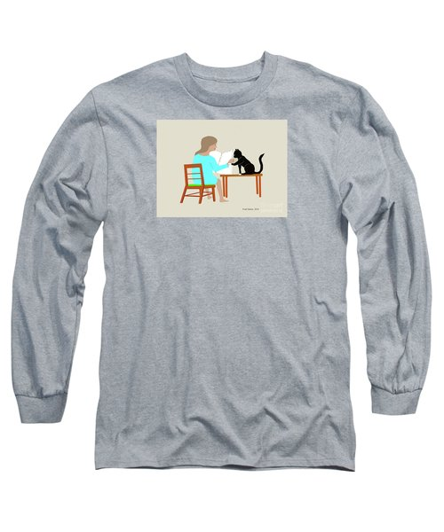 Socks Reads Sunday Paper Long Sleeve T-Shirt
