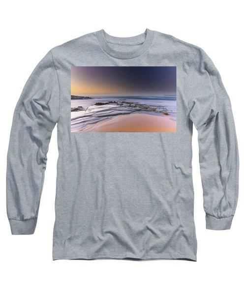 Soft And Rocky Sunrise Seascape Long Sleeve T-Shirt