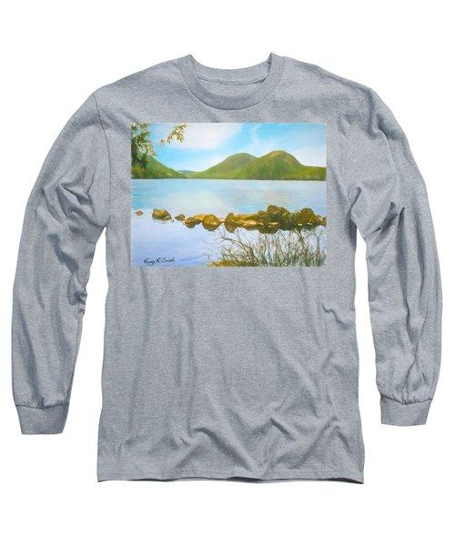 Soft Art Photograph Jordan Pond Acadia Nat. Park Maine Long Sleeve T-Shirt