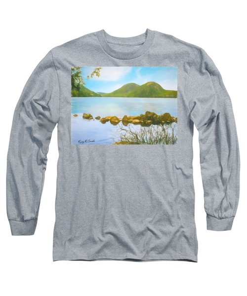 Soft Art Photograph Jordan Pond Acadia Nat. Park Maine Long Sleeve T-Shirt