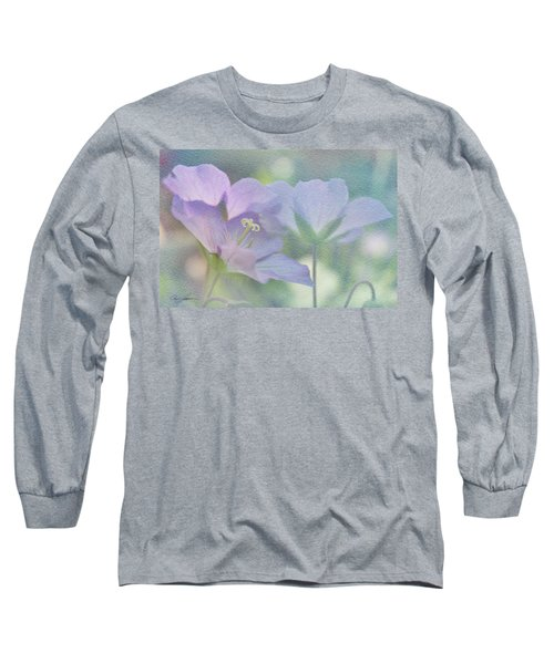 Long Sleeve T-Shirt featuring the photograph Soft Blue by Ann Lauwers