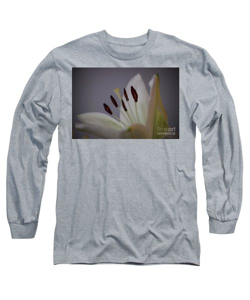 Soft Lily Long Sleeve T-Shirt by Roberta Byram