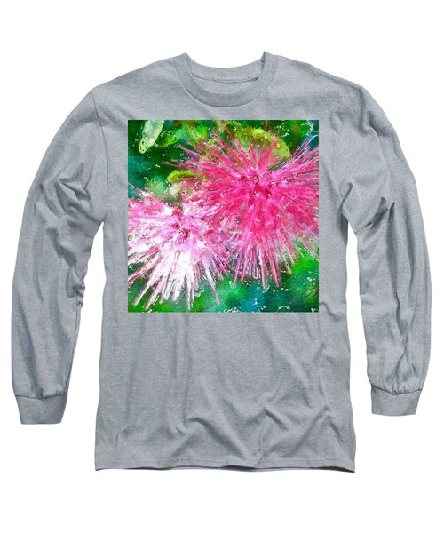 Soft Pink Flower Long Sleeve T-Shirt