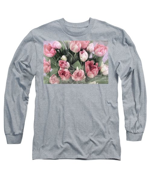 Soft Pink Tulips Long Sleeve T-Shirt