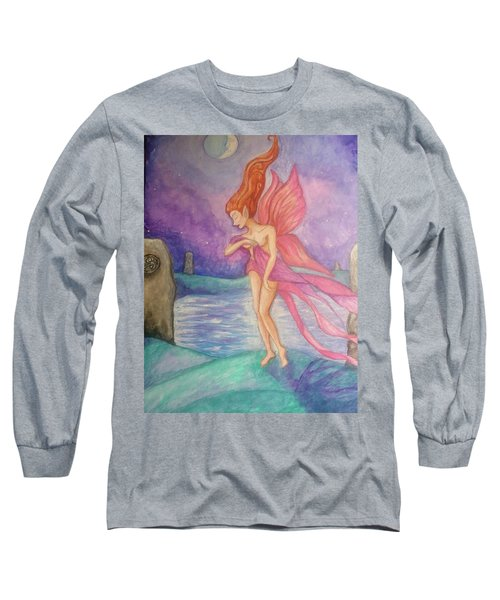 Softly,on The Wings Of Night Long Sleeve T-Shirt