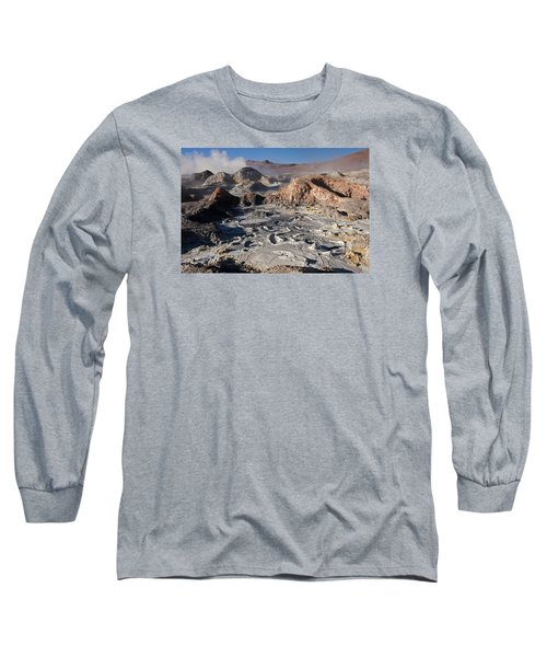 Sol De Manana Geothermal Field  Long Sleeve T-Shirt by Aivar Mikko