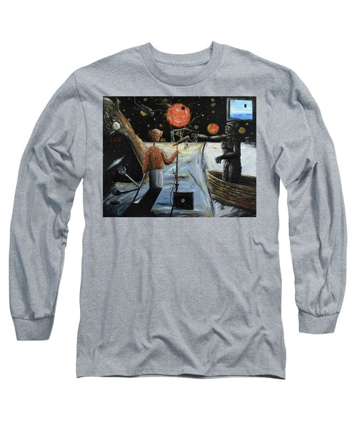 Long Sleeve T-Shirt featuring the painting Solar Broadcast -transition- by Ryan Demaree