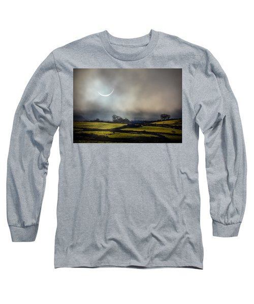 Solar Eclipse Over County Clare Countryside Long Sleeve T-Shirt