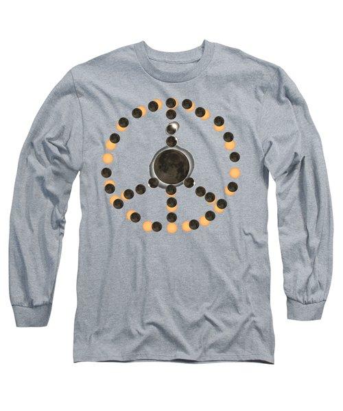 Solar Eclipse Peace On Earth Long Sleeve T-Shirt