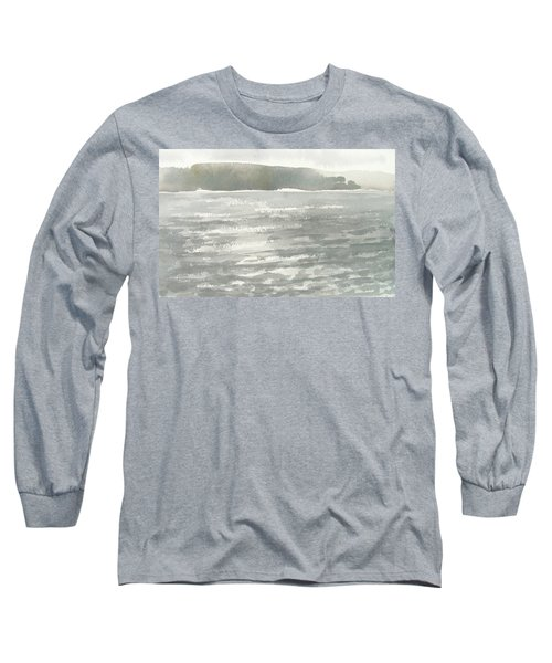 Soldis Over Glittrande Fjord - Sunlit Haze Over Glittering Water_0023 76x48cm Long Sleeve T-Shirt