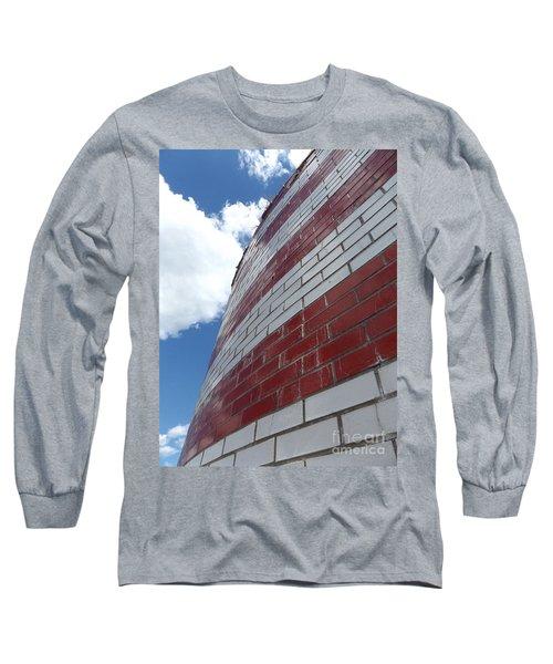 Solid Flag Blue Sky Long Sleeve T-Shirt
