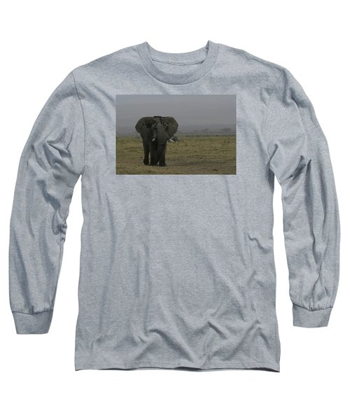 Long Sleeve T-Shirt featuring the photograph Solitary Bull Elephant by Gary Hall