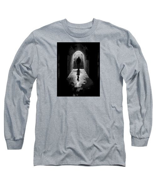 Solitude - Ascending To The Light Long Sleeve T-Shirt by Betty Denise