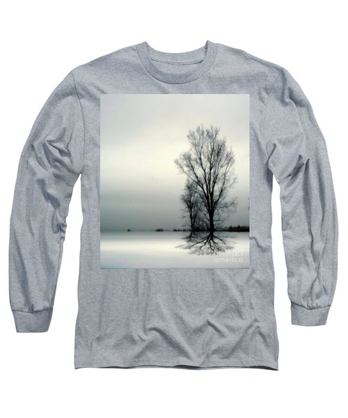 Long Sleeve T-Shirt featuring the digital art Solitude by Elfriede Fulda