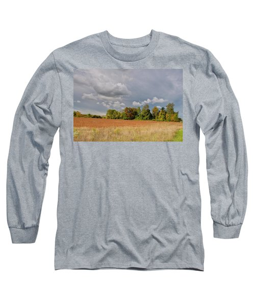 Long Sleeve T-Shirt featuring the photograph Somerset Sky 3069 by Guy Whiteley