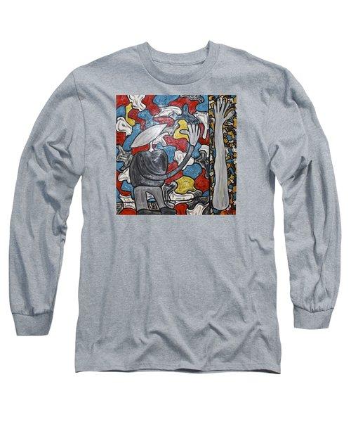 Sometimes I Feel I'm Loosing Part Of Myself Long Sleeve T-Shirt by Mario Perron
