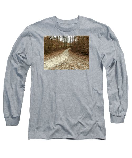 Somewhere Down The Road Long Sleeve T-Shirt by Russell Keating