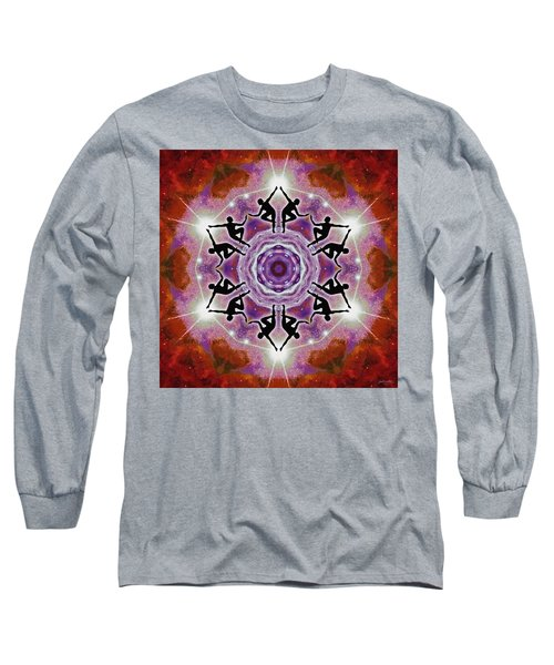 Long Sleeve T-Shirt featuring the digital art Sonic Galaxies by Derek Gedney