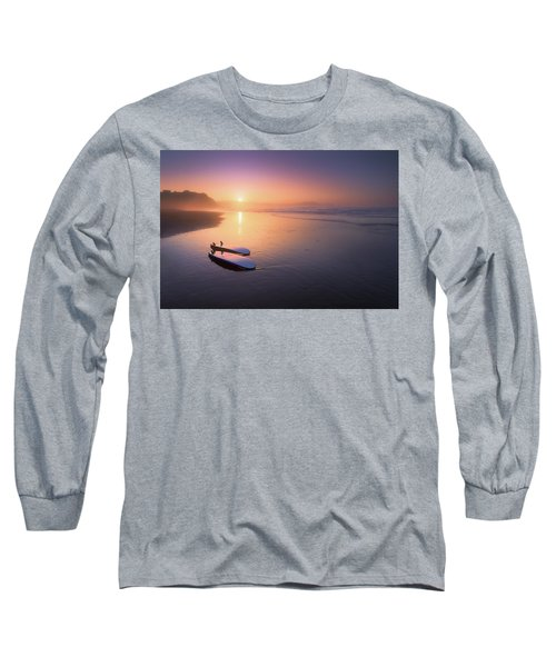 Sopelana Beach With Surfboards On The Shore Long Sleeve T-Shirt