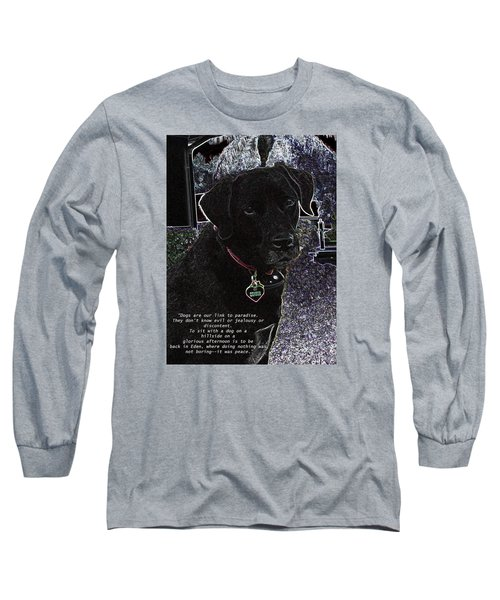 Long Sleeve T-Shirt featuring the mixed media Sophie by Charles Shoup