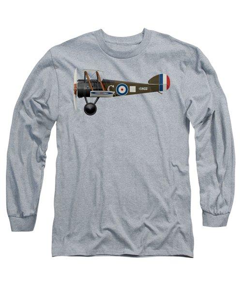 Sopwith Camel - B6344 - Side Profile View Long Sleeve T-Shirt