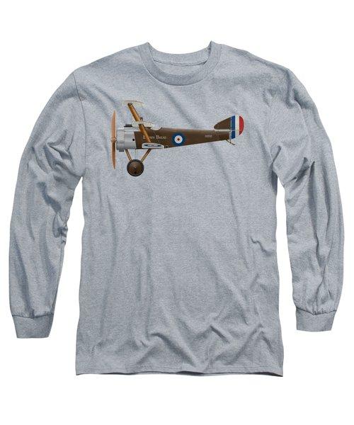 Sopwith Triplane - ' Brown Bread ' - Side Profile View Long Sleeve T-Shirt