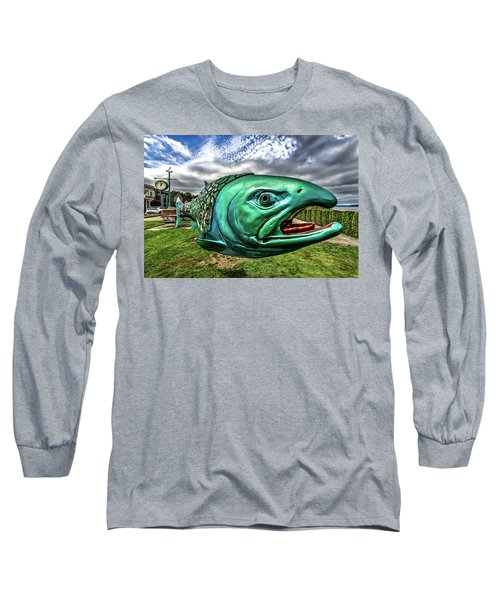 Soul Salmon In Hdr Long Sleeve T-Shirt by Rob Green