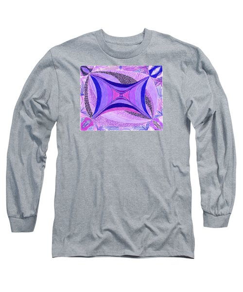Long Sleeve T-Shirt featuring the drawing Soulviolet by Kim Sy Ok