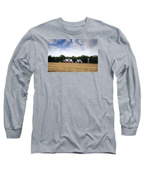 South Dakota Barn Long Sleeve T-Shirt by Yumi Johnson