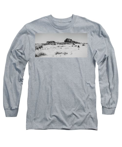 South Hessary Tor In The Snow Long Sleeve T-Shirt