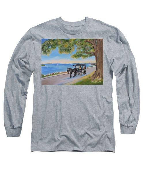 Southport Stroll Long Sleeve T-Shirt by Shelia Kempf
