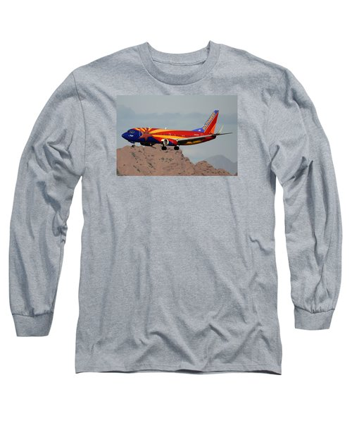 Southwest Boeing 737-3h4 N383sw Arizona Phoenix Sky Harbor December 20 2015  Long Sleeve T-Shirt by Brian Lockett