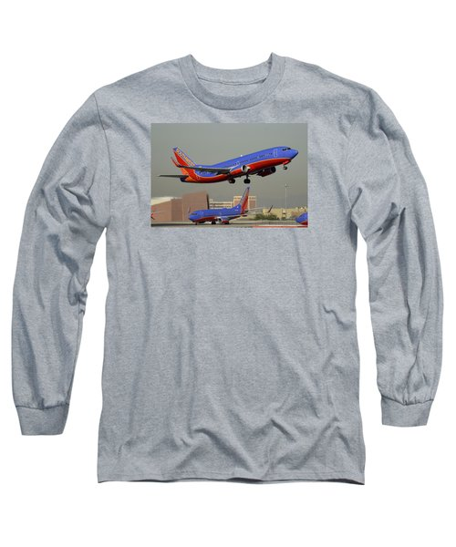 Southwest Boeing 737-3h4 N392sw Phoenix Sky Harbor December 2 2015 Long Sleeve T-Shirt