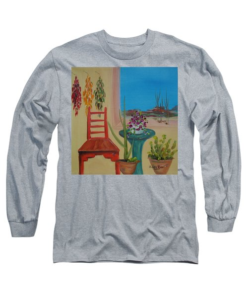Long Sleeve T-Shirt featuring the painting Southwestern 6 by Judith Rhue