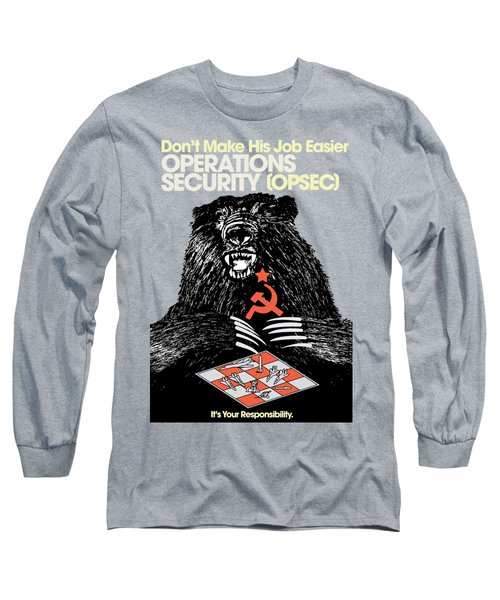 Soviet Threat - Usaf Opsec Vintage 80's Print Long Sleeve T-Shirt