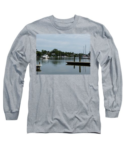 Spa Creek From The Park  Long Sleeve T-Shirt by Donald C Morgan