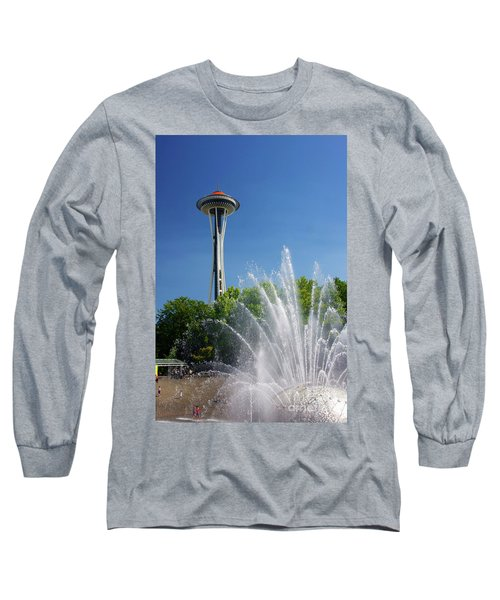 Space Needle In Seattle Long Sleeve T-Shirt