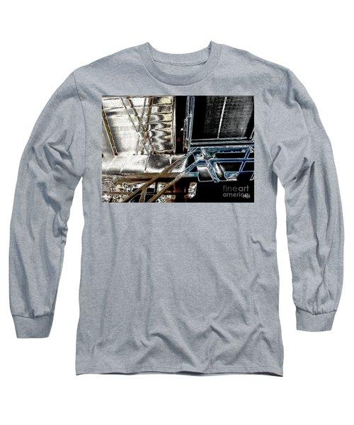 Long Sleeve T-Shirt featuring the digital art Space Station by Marsha Heiken