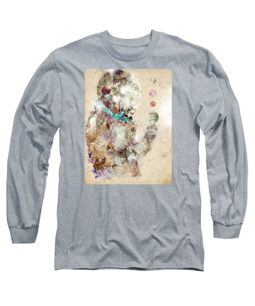 Long Sleeve T-Shirt featuring the painting Spaceman by Bri B