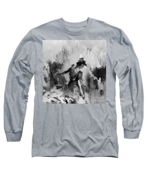 Long Sleeve T-Shirt featuring the painting Spanish Dance 7734j by Gull G