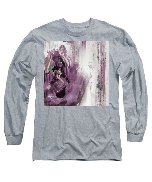 Long Sleeve T-Shirt featuring the painting Spanish Woman Dance  by Gull G