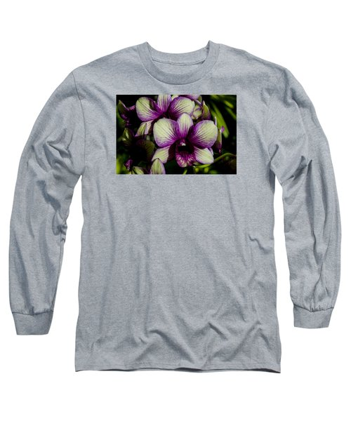 Long Sleeve T-Shirt featuring the photograph Sparkly Moth Orchid by Deborah Smolinske