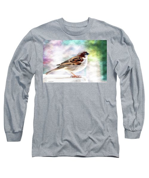 Sparrow Beauty 0004. Long Sleeve T-Shirt by Kevin Chippindall