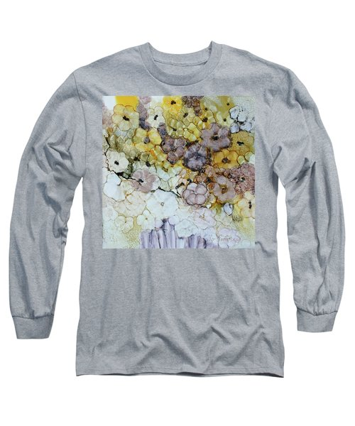Long Sleeve T-Shirt featuring the painting Spash Of Sunshine by Joanne Smoley