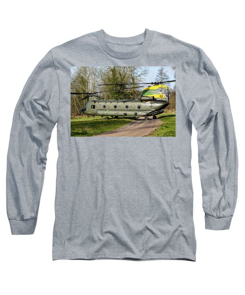 Special Tail Chinook Long Sleeve T-Shirt by Ken Brannen
