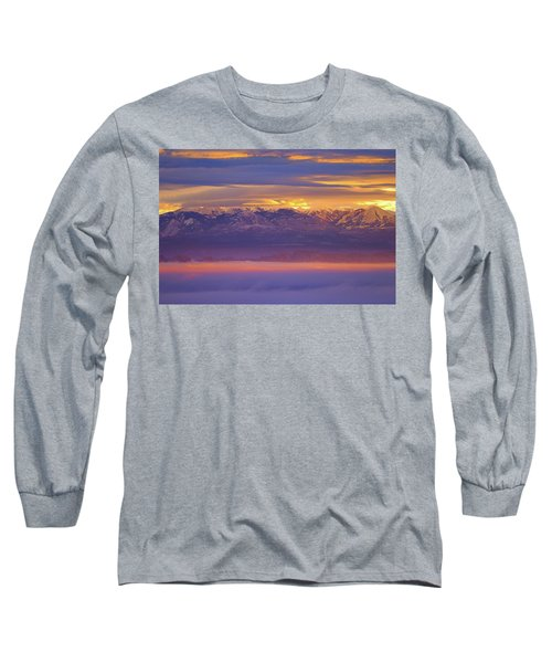 Spectacular Surnise Of The La Sal Mountains From Dead Horse Point State Park Long Sleeve T-Shirt
